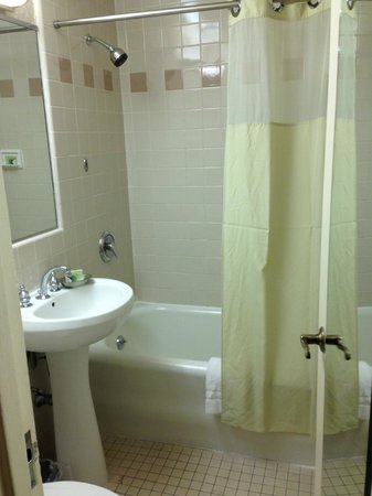 The Roosevelt Hotel: Small but functional bath