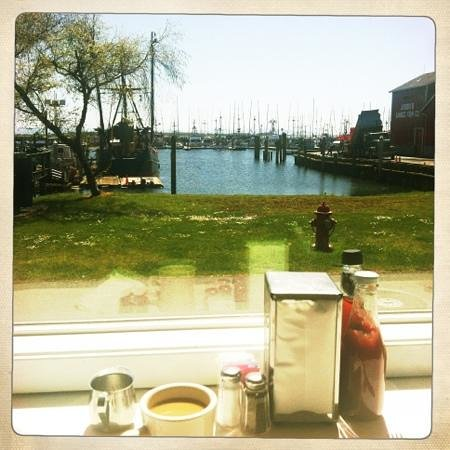 Ilwaco, WA: view while enjoying lunch