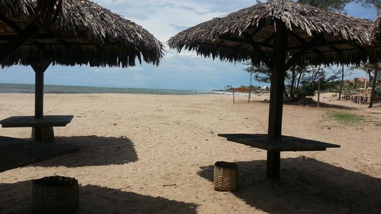 Guadalupe, PI: Beach and huts for guests/ Kite surfing site