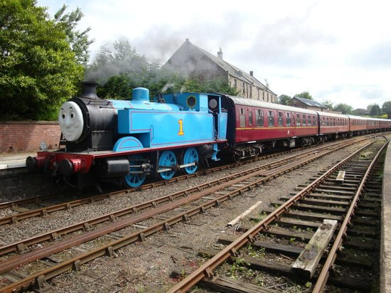 Thomas arriving at Brechin Station.