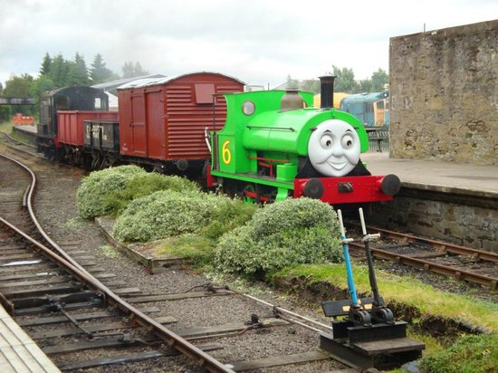 Percy at Brechin Station during a Day Out with Thomas event.