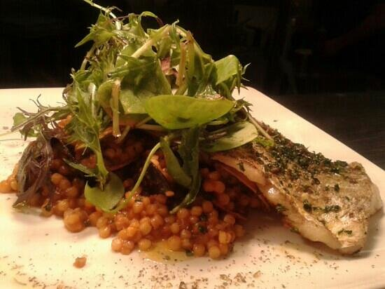 Oranmore, Ireland: Ling fillet with fregola, clams and mussels.Delicious.