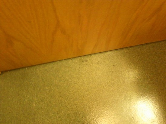 Microtel Inn & Suites by Wyndham Pigeon Forge: When you stepped barefoot into the bathroom your feet stuck to whatever this is. Second room