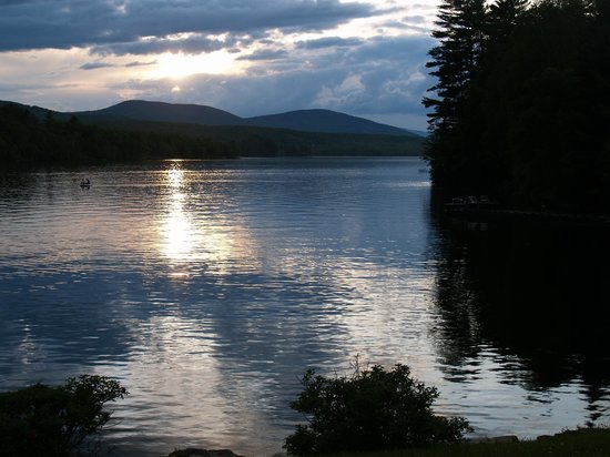 Sunset on Wilson Lake, Wilton, Maine USA