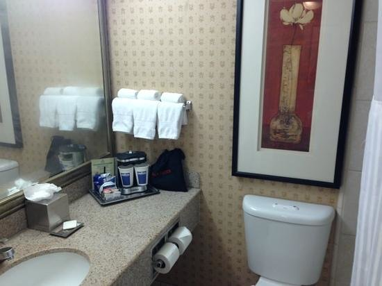 Hilton Pasadena: adequate bathroom