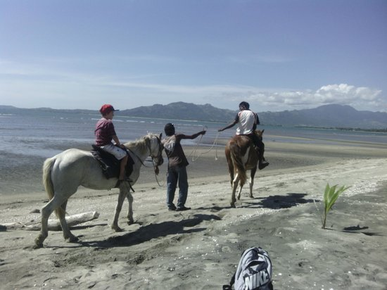 Club Fiji Resort: We booked beach horse riding for the kids