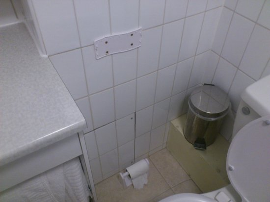 BEST WESTERN Westminster Hotel: Toilet roll holder fallen off