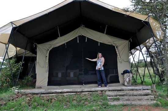 Naboisho Camp, Asilia Africa: Our tent!