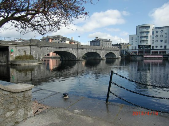 Athlone Castle: View of river and bridge from castle