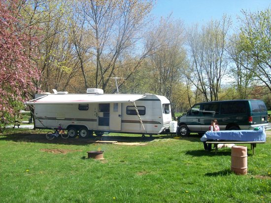 Granite Hill Camping Resort: Our Campsite, after the rain stopped