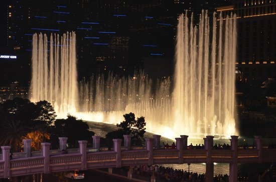 Bill's Gamblin' Hall & Saloon: View from room - Bellagio  Fountains