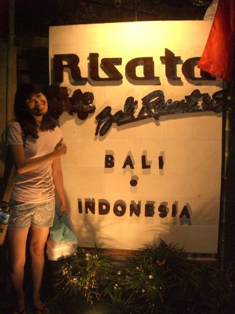 Risata Bali Resort & Spa: My wife and Risata Hotel