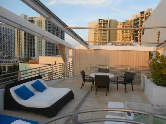 Z Ocean Hotel South Beach: Private Rooftop Terrace