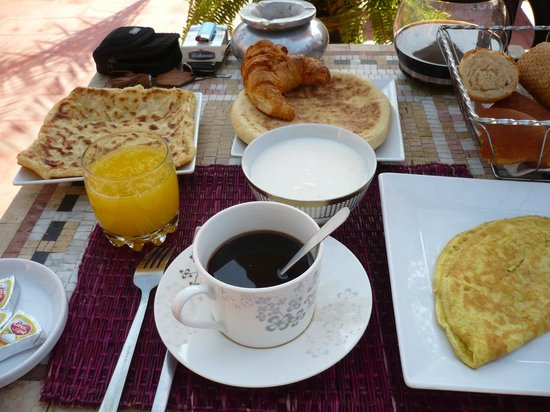 Riad Chafia: breakfast