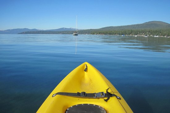 Shore House at Lake Tahoe: Kayaking in the morning