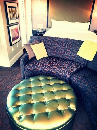 Andaz Savannah: Loved the couch! It reminded me of mustaches!