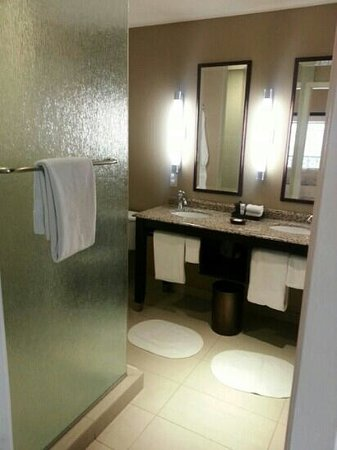 Andaz Savannah: Loved our bathroom!  Plenty of room for 2-3 people to get ready at the same time.  There is also