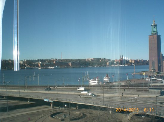 Sheraton Stockholm Hotel: View from bedroom on the 5th floor