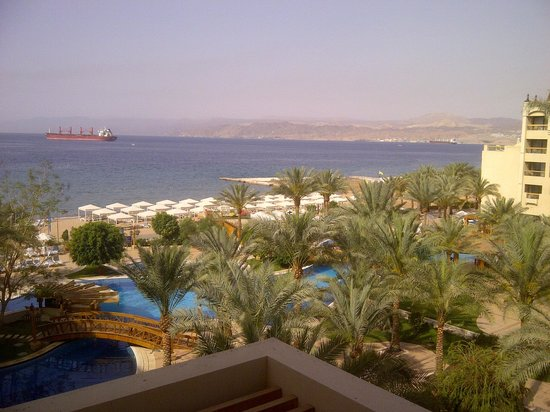InterContinental Aqaba Resort: View of Red Sea from my room balcony