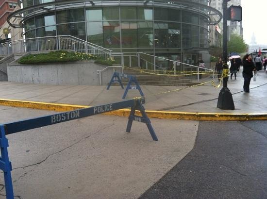 Courtyard by Marriott Boston Copley Square: how close to the bombing? this close...