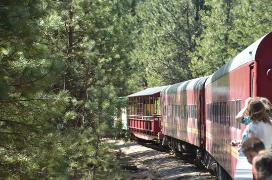 Horseshoe Bend, ID: Riding the rails!