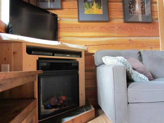 Mount 7 Lodges: Deer Lodge, new entertainment centre and fireplace