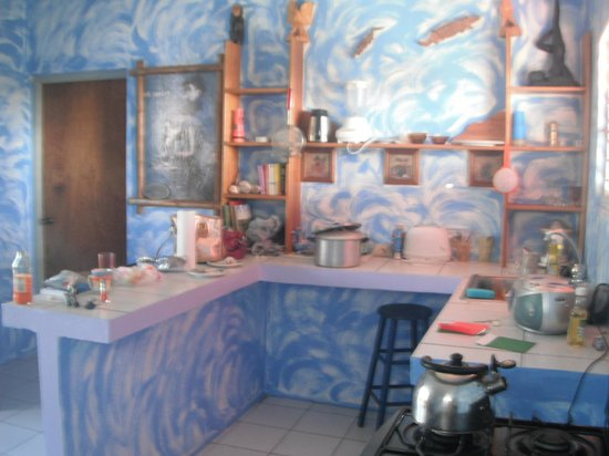 Irie Rest Guest House: kitchen (please excuse mess!)