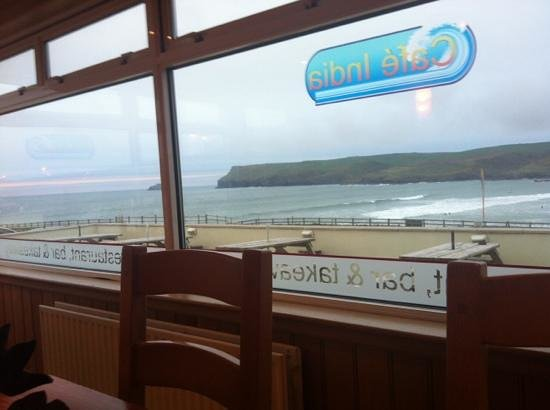 Polzeath, UK: view from my table