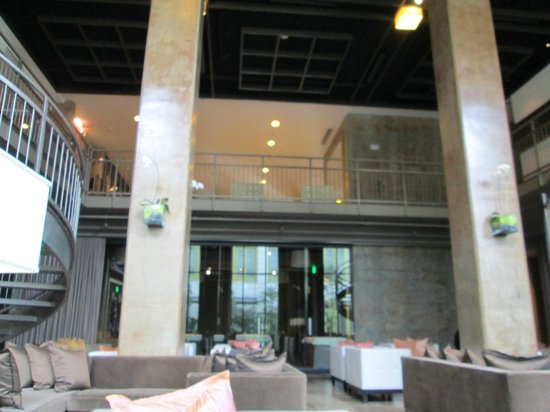 Proximity Hotel: Looking up to the lobby