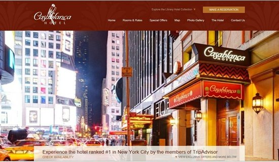 Casablanca Hotel Times Square: Don't be fooled by imposters. Only our official website has the best rates.