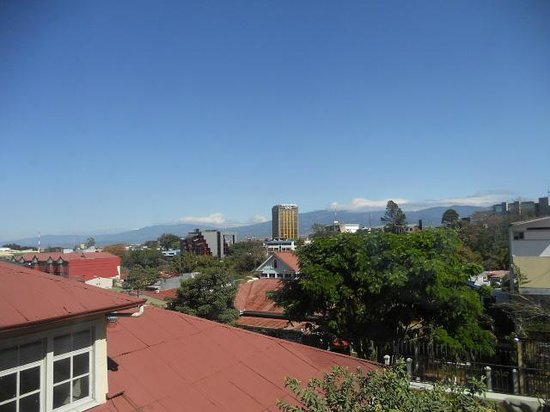 Hotel Don Carlos: view from our room of San Jose, Costa Rica