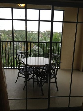 Hilton Grand Vacations Suites on International Drive: screened balcony with a view
