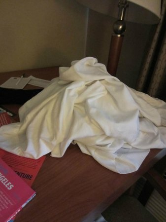 BEST WESTERN Royal Palace Inn & Suites: dirty sheets left on the table!
