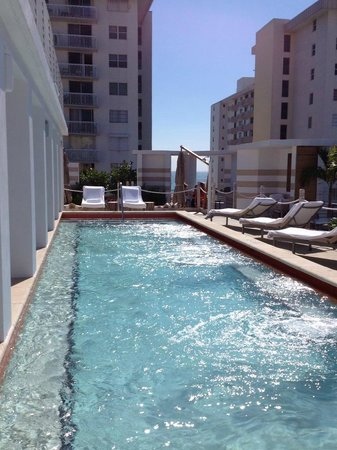 Sense Beach House: The wonderful rooftop pool, can see the ocean at the other end of the pool