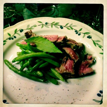 Villa Campestri Olive Oil Resort: The steak was superb!