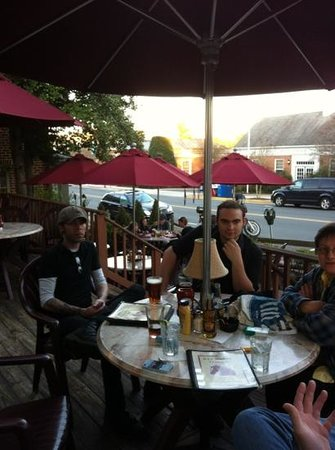 Middleburg, VA: Christian, Frederick and Marie-Noelle enjoying a pint