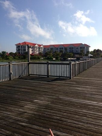 Charleston Harbor Resort & Marina: hotel view from marina