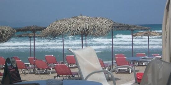 Alykanas Beach Apart-Hotel: View of the sea from a local smoothie bar in Alykes (name escapes me)
