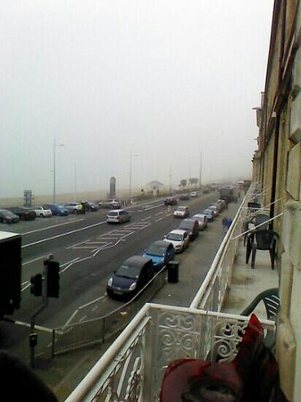 The Richmoor Hotel: view from balcony showing on-street parking