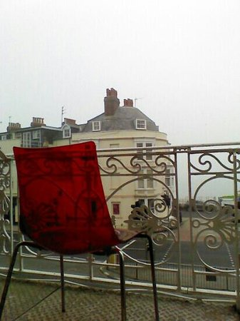 The Richmoor Hotel: balcony seat.