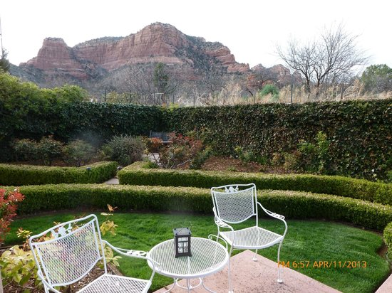 ‪‪Canyon Villa Bed and Breakfast Inn of Sedona‬: Our terrace and view‬
