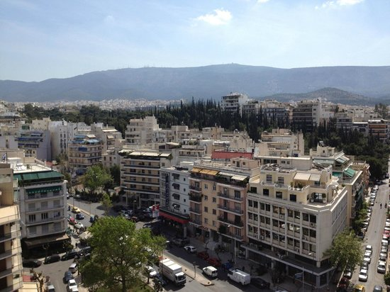 Hilton Athens: Mid afternoon view from #935