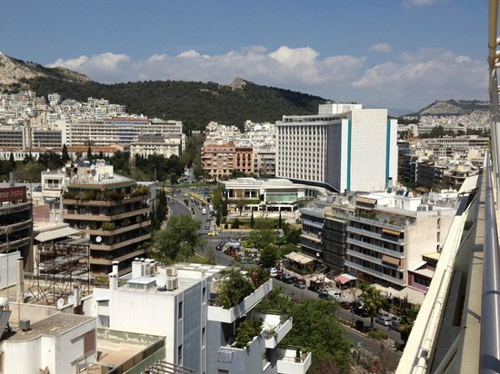 Hilton Athens: View of Hilton from The Divani Caravel