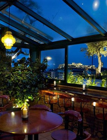 Olive Garden Night Picture Of Titania Hotel Athens