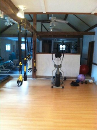 Birchcreek Retreat: fitness room.