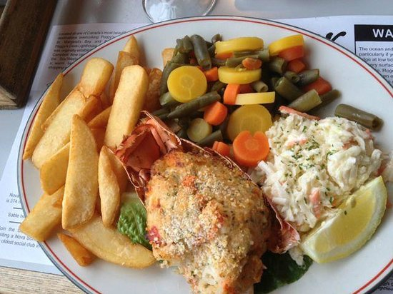Peggy's Cove, Kanada: Stuffed Lobster Tail Dinner