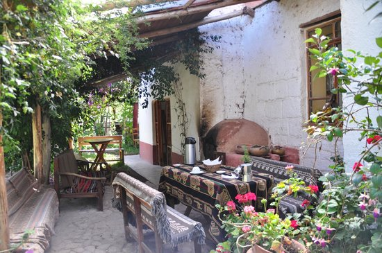 Los Perales Ecolodge: Zona de desayuno
