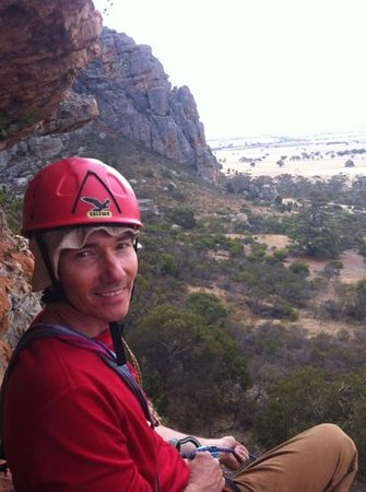 Grampians, Australien: Belaying on D Minor. Awesome.