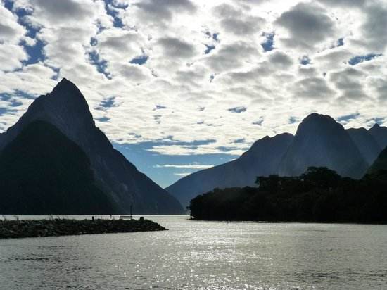 Fiordland, New Zealand: After disembarking, I turned back to get one last, perfect shot.