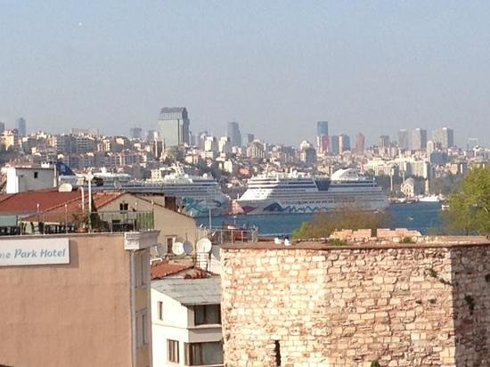 Sirkeci Konak Hotel: View toward new district